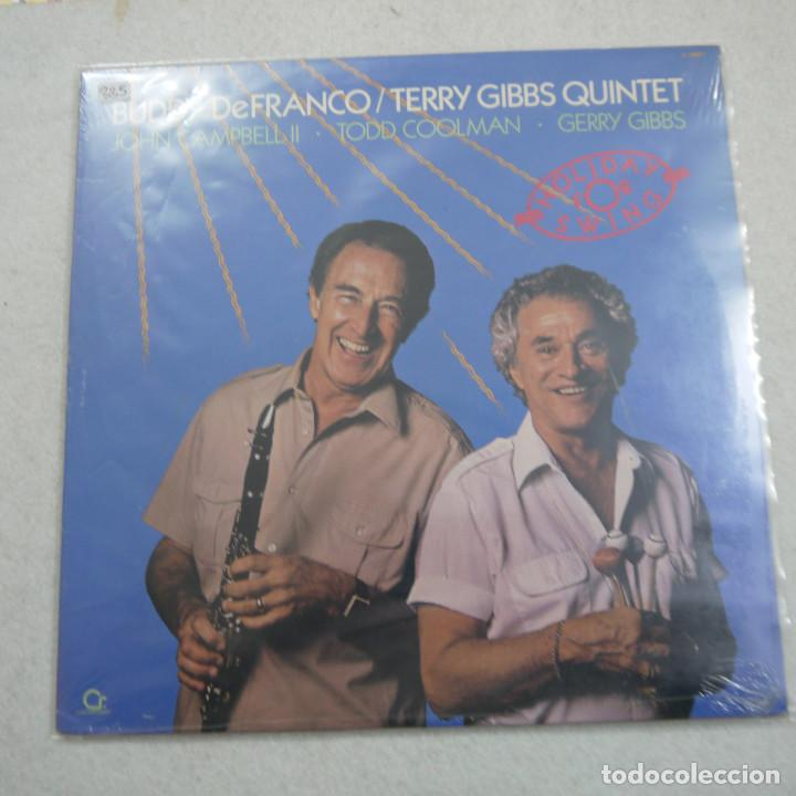 BUDDY DEFRANCO/TERRY GIBBS QUINTET - HOLIDAY FOR SWING - LP 1988 USA PRECINTADO (Música - Discos - LP Vinilo - Jazz, Jazz-Rock, Blues y R&B)