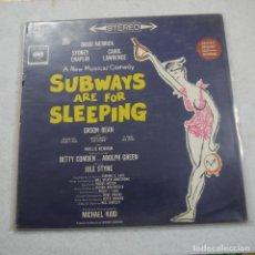 Discos de vinilo: SUBWAYS ARE FOR SLEEPING - LP . Lote 194521097