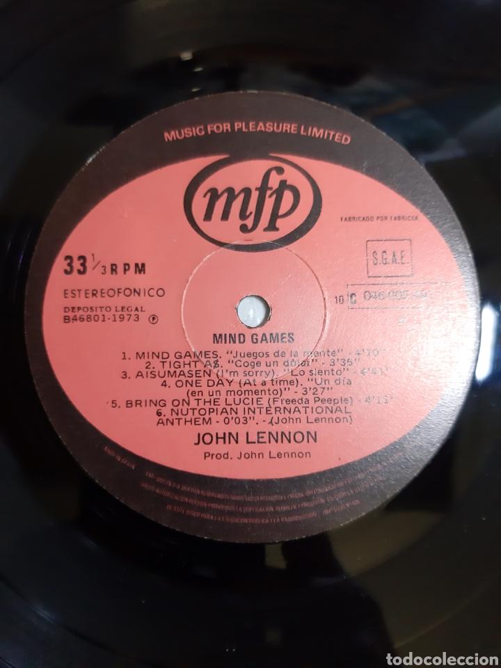 Discos de vinilo: JOHN LENNON. MIND GAMES. 046-005-491 MFP. 1973. ESPAÑA. - Foto 3 - 194522041