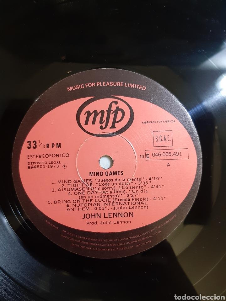 Discos de vinilo: JOHN LENNON. MIND GAMES. 046-005-491 MFP. 1973. ESPAÑA. - Foto 4 - 194522041