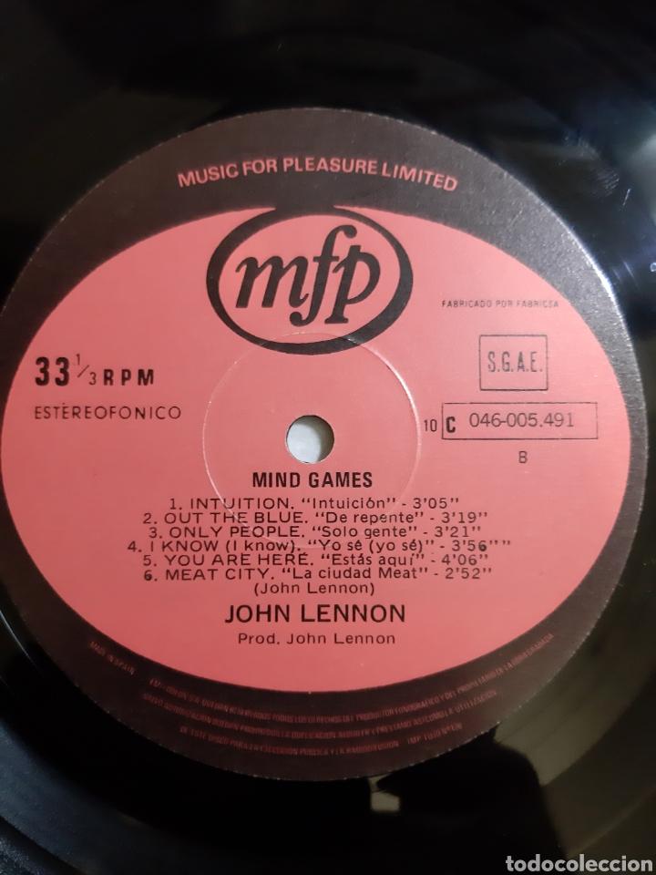 Discos de vinilo: JOHN LENNON. MIND GAMES. 046-005-491 MFP. 1973. ESPAÑA. - Foto 5 - 194522041
