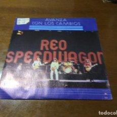 Discos de vinilo: REO SPEEDWAGON – AVANZA CON LOS CAMBIOS / THE UNIDENTIFIED FLYING TUNA TROT / ESPAÑA 1978. Lote 194523455