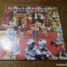 Discos de vinilo: BAND AID – ¿SABEN ELLOS QUE ES NAVIDAD? / ALIMENTA AL MUNDO / 1985 ESPAÑA. Lote 194523708