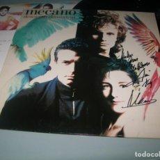 Discos de vinilo: MECANO - DESCANSO DOMINICAL...LP DE BMG ARIOLA ..1ª ED. 1988 - CON LETRAS FIRMADO POR ANA TORROJA. Lote 194527527
