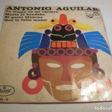 Discos de vinilo: ANTONIO AGUILAR. TE TRAIGO EN MI CARTERA. MARÍA LA PERDIDA. EL PATAS BLANCAS. QUÉ TE FALTA MUJER. Lote 194527633