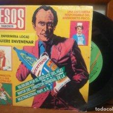 Discos de vinilo: BESOS RABIOSOS - ME QUIERE ENVENENAR (LA ENFERMERA LOCA) / ESTO QUE ES - SINGLE 1987 PEPETO. Lote 194528006
