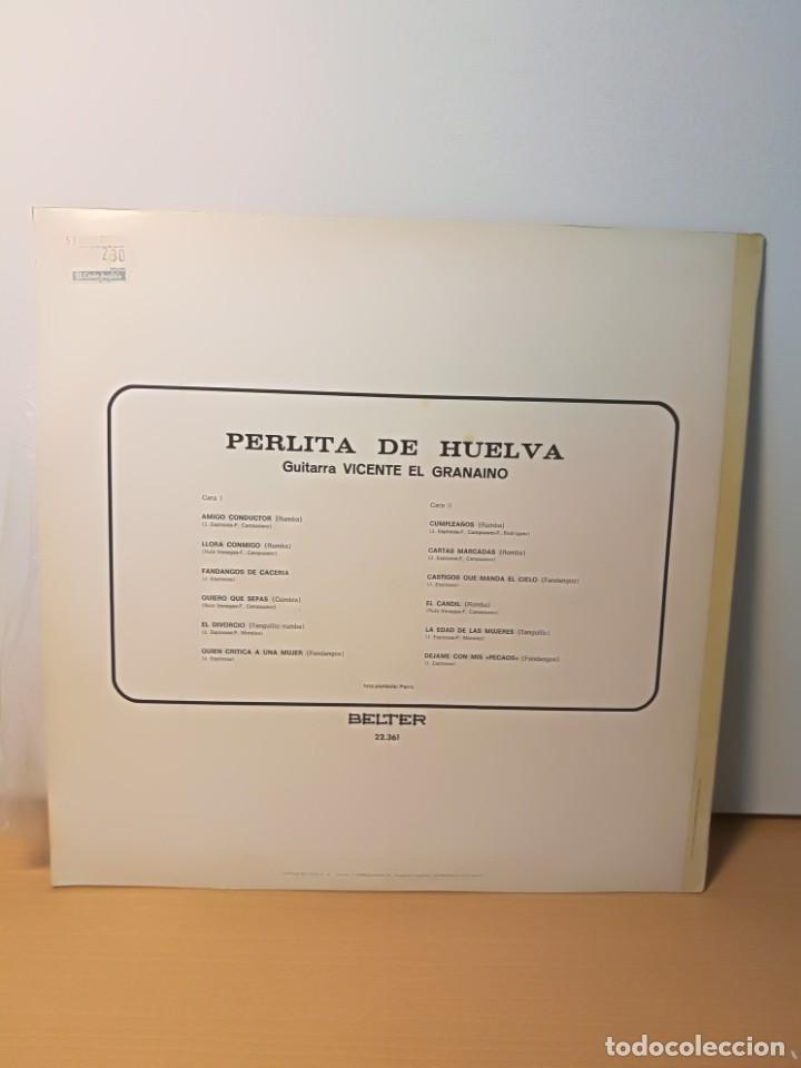 Discos de vinilo: PERLITA DE HUELVA - AMIGO CONDUCTOR ·AÑO 1969 (BELTER) - Foto 2 - 194529977