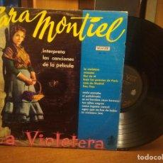Discos de vinilo: SARA MONTIEL INTERPRETA LAS CANCIONES DE LA PELICULA LA VIOLETERA- VENEZUELA . Lote 194530080