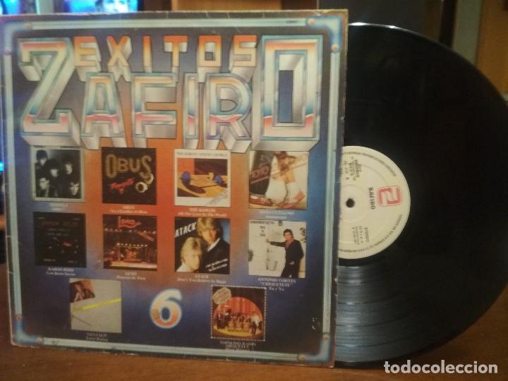 LP EXITOS ZAFIRO 6 - VARIOS ARTISTAS - KORGIS, ATACK, CUTUGNO, TEQUILA, BARON ROJO, OBUS, LEÑO (Música - Discos - LP Vinilo - Grupos Españoles de los 70 y 80)