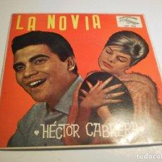 Discos de vinilo: SINGLE HÉCTOR CABRERA. LA NOVIA. TE VAS A CASAR. TINIEBLAS. VENEZUELA HABLA CANTANDO. CUBALEGRE 1961. Lote 194530958