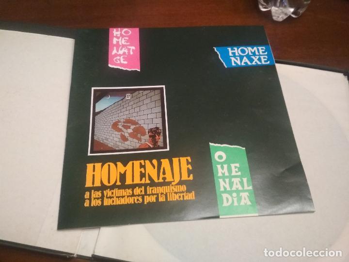 Discos de vinilo: HOMENAJE A LAS VICTIMAS DEL FRANQUISMO - 4 LP + LIBRETO - SABINA / JAVIER KRAHE / PACO MUÑOZ PEPETO - Foto 4 - 194531307