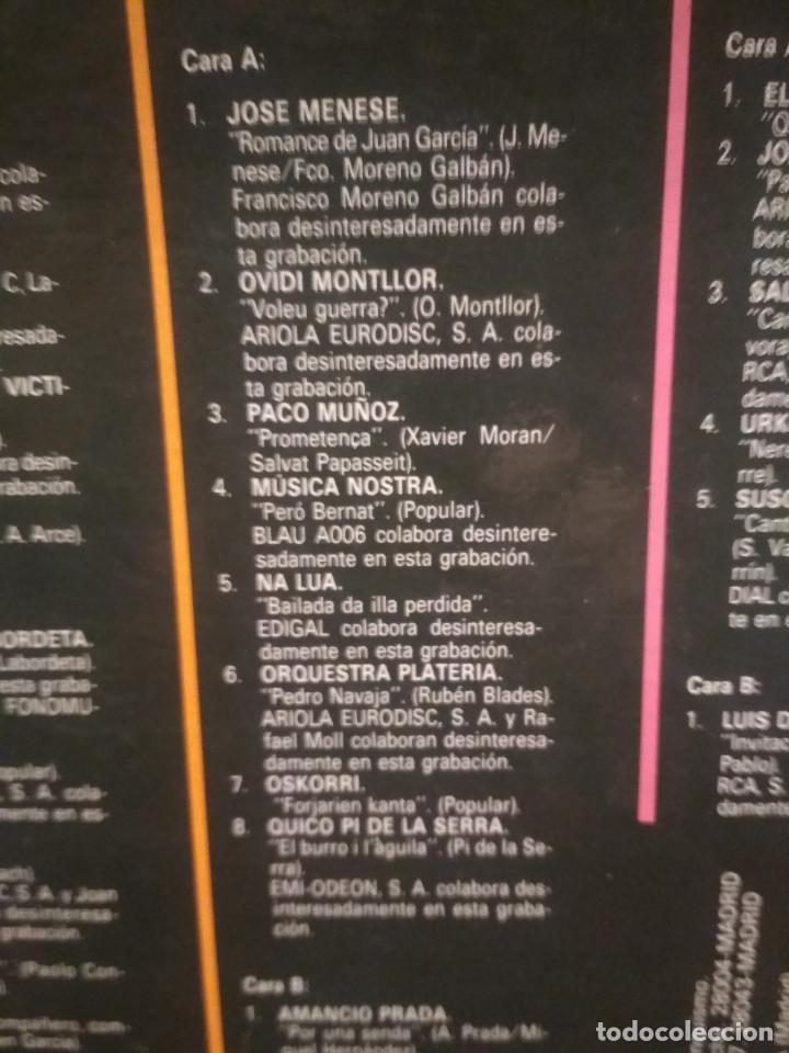 Discos de vinilo: HOMENAJE A LAS VICTIMAS DEL FRANQUISMO - 4 LP + LIBRETO - SABINA / JAVIER KRAHE / PACO MUÑOZ PEPETO - Foto 5 - 194531307