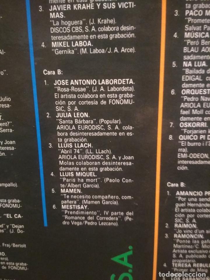 Discos de vinilo: HOMENAJE A LAS VICTIMAS DEL FRANQUISMO - 4 LP + LIBRETO - SABINA / JAVIER KRAHE / PACO MUÑOZ PEPETO - Foto 10 - 194531307