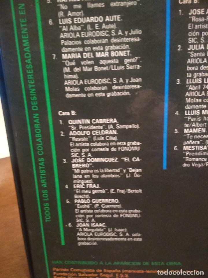 Discos de vinilo: HOMENAJE A LAS VICTIMAS DEL FRANQUISMO - 4 LP + LIBRETO - SABINA / JAVIER KRAHE / PACO MUÑOZ PEPETO - Foto 11 - 194531307