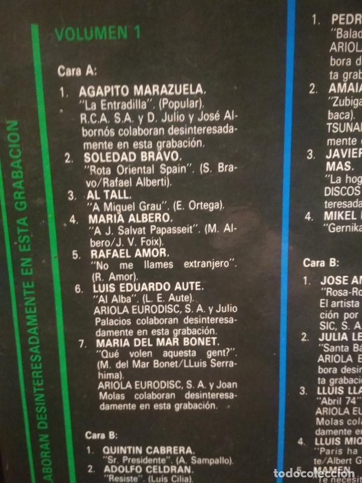 Discos de vinilo: HOMENAJE A LAS VICTIMAS DEL FRANQUISMO - 4 LP + LIBRETO - SABINA / JAVIER KRAHE / PACO MUÑOZ PEPETO - Foto 13 - 194531307