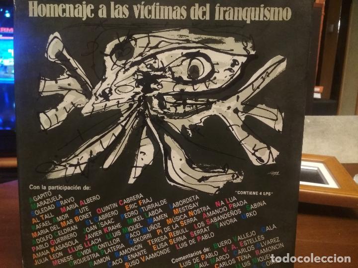 HOMENAJE A LAS VICTIMAS DEL FRANQUISMO - 4 LP + LIBRETO - SABINA / JAVIER KRAHE / PACO MUÑOZ PEPETO (Música - Discos - LP Vinilo - Solistas Españoles de los 70 a la actualidad)