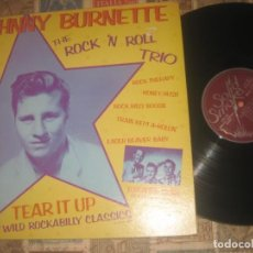 Discos de vinilo: JOHNNY BURNETTE THE ROCK 'N ROLL TRIO SOLID SMOKE 1978 DOBLE CARPETA ORIGINAL USA ROCKABILLY. Lote 194532233