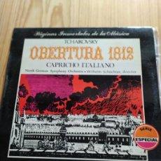 Discos de vinilo: TCHAIKOVSKY. OBERTURA 1812. CAPRICHO ITALIANO. Lote 194535378