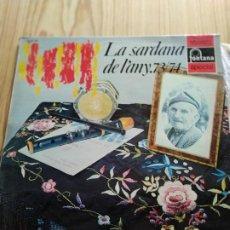 Discos de vinilo: LA SARDANA DE L'ANY 73/74. Lote 194535401