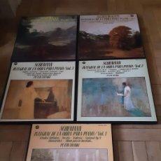 Discos de vinilo: SCHUMANN - INTEGRAL DE LA OBRA PARA PIANO-5 VOL TRIPLES - PETER FRANKL. Lote 194535456