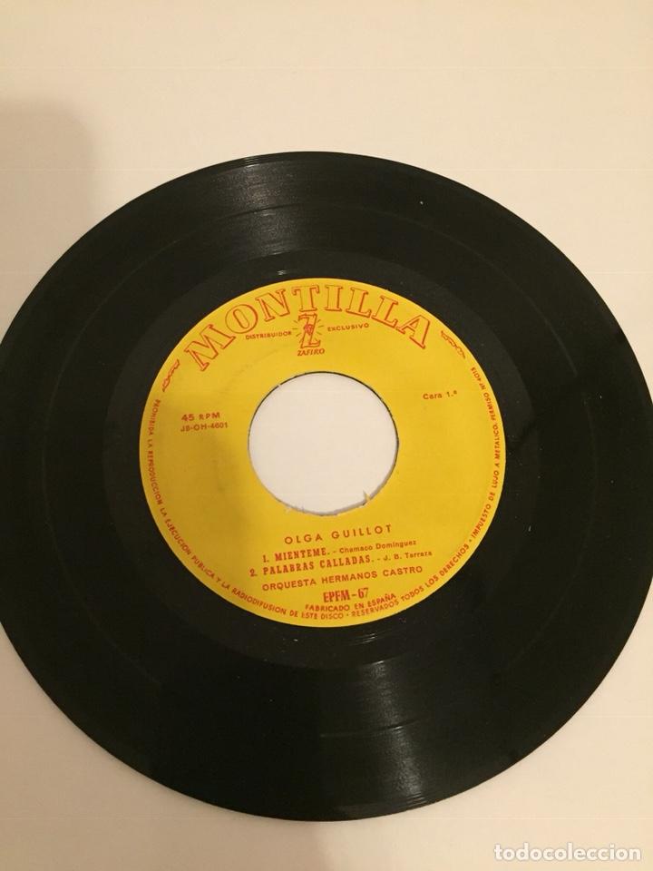 Discos de vinilo: OLGA GUILLOT-/MIENTEME/PALABRAS CALLADAS/DELIRIO/VIVIR DE LOS RECUERDOS/EP J8-OH-4602 ESPAÑA - Foto 2 - 194535681