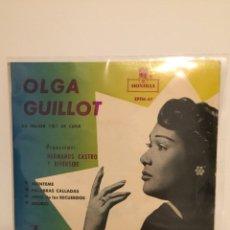 Discos de vinilo: OLGA GUILLOT-/MIENTEME/PALABRAS CALLADAS/DELIRIO/VIVIR DE LOS RECUERDOS/EP J8-OH-4602 ESPAÑA. Lote 194535681
