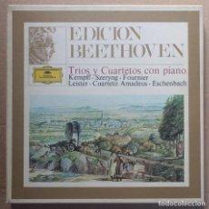 Discos de vinilo: BEETHOVEN - TRIOS Y CUARTETOS CON PIANO - CAJA 6 LPS Y LIBRETO / DEUTSCHE 27 20 016. Lote 194535902