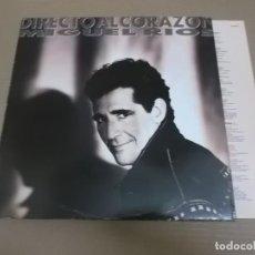 Discos de vinilo: MIGUEL RIOS (LP) DIRECTO AL CORAZON AÑO – 1991 – ENCARTE CON LETRAS. Lote 194538155
