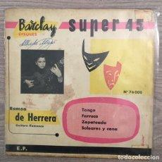 Discos de vinilo: RAMÓN DE HERRERA - GUITARRA FLAMENCA - FRANCIA. Lote 194549160