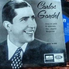 Discos de vinilo: EP( VINILO) DE CARLOS GARDEL AÑOS 50. Lote 194550688