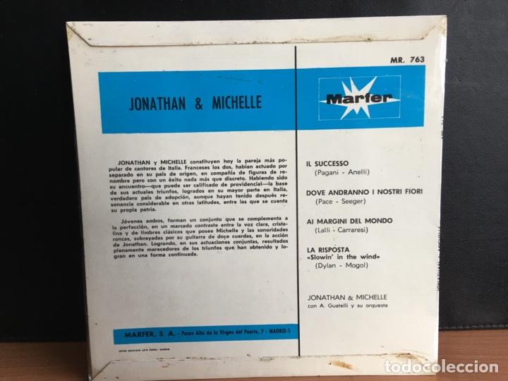 Discos de vinilo: Jonathan & Michelle - Dove Andranno I Nostri Fiori (EP) (Marfer) M - 763 (D:NM) - Foto 2 - 194551228