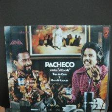 Discos de vinilo: PACHECO CANTA EL CONDE. TRES DE CAFE Y DOS DE AZUCAR. LP DISCOPHON ESTERO 6002. Lote 194555271