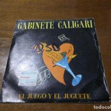 Discos de vinilo: GABINETE CALIGARI – EL JUEGO Y EL JUGUETE / EL ULTIMO TRANVIA / TRES CIPRESES 1986-. Lote 194555952
