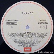 Discos de vinilo: DYANGO TANGO LP EMI 1988 SPAIN (SOLO DISCO). Lote 194556190