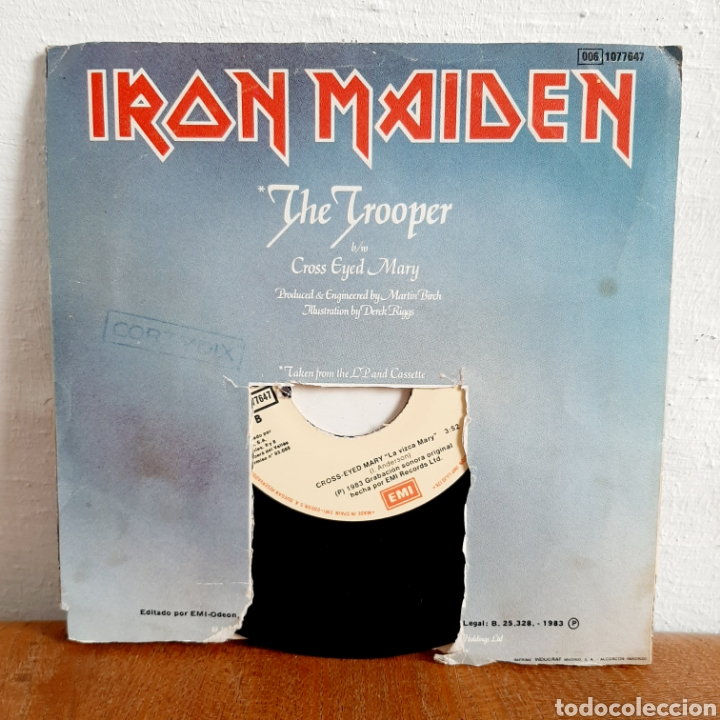 Discos de vinilo: Iron Maiden / The Trooper / Single 1983 - Foto 2 - 194557466