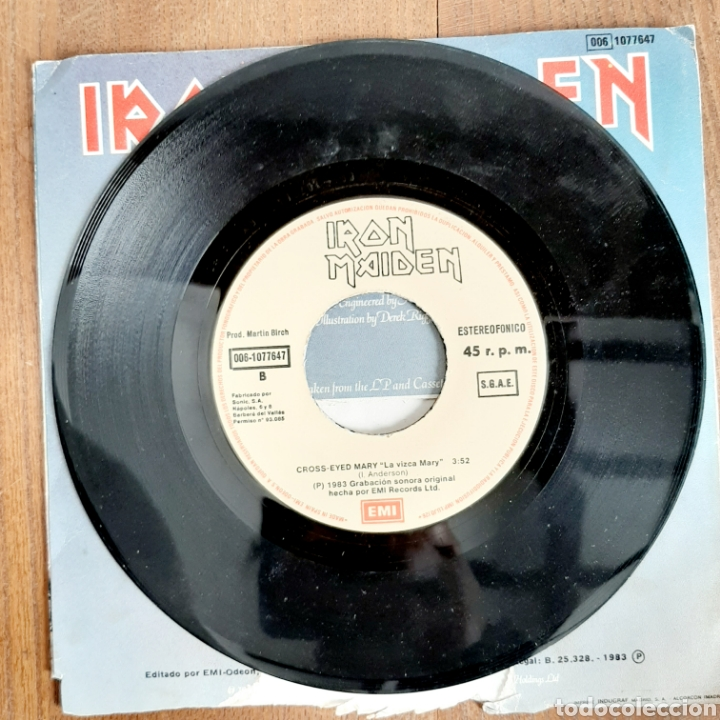 Discos de vinilo: Iron Maiden / The Trooper / Single 1983 - Foto 4 - 194557466