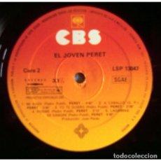 Discos de vinilo: PERET - EL JOVEN PERET - LP PROMO SPAIN 1979 (SOLO DISCO). Lote 194557628