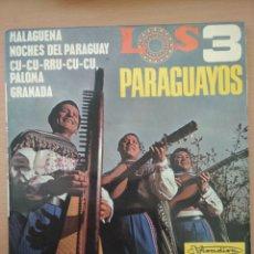 Discos de vinilo: MAXI-SINGLE LOS TRES PARAGUAYOS, VISADISC. Lote 194559522