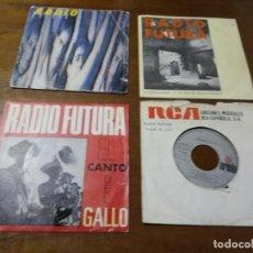 Discos de vinilo: LOTE - RADIO FUTURA- CUATRO SINGLES-UNO PROMOCIONAL. Lote 194560556