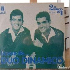 Discos de vinilo: *** DÚO DINÁMICO - LA VOZ DE... DÚO DINÁMICO (VOL.II) DOBLE LP 1978 (DOBLE PORTADA) LEER DESCRIPCIÓN. Lote 194564090