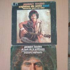 Discos de vinilo: 2 SINGLES DE JOHNNY RIVERS.. Lote 194564208