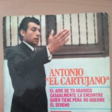 Discos de vinilo: MAXI SINGLE ANTONIO EL CARTUJANO EDIT VERGARA 1970. Lote 194566341