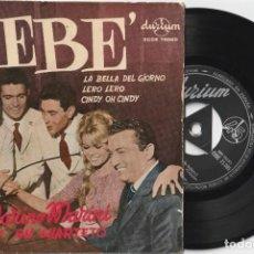 Discos de vinilo: MARINO MARINI Y SU CUARTETO - BEBE + 3 (EP DURIUM ESPAÑA) BRIGITTE BARDOT. Lote 194570412