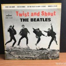 Discos de vinilo: THE BEATLES - TWIST AND SHOUT (EP) (ODEON) DSOE 16.560 (D:NM). Lote 194571780
