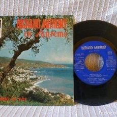 Discos de vinilo: RICHARD ANTHONY - EN SAN REMO - NESSUNO DI VOI + 3 EP COMPLETAMENTE LAMINADO AÑO 1966 EX. ESTADO. Lote 194572235