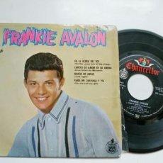 Discos de vinilo: FRANKIE AVALON-EP EN LA ACERA DEL SOL +3. Lote 194572950