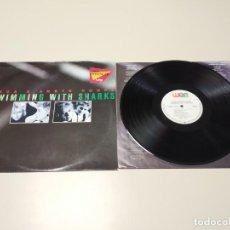 Discos de vinilo: 0220- INGA & ANETE HUMPE SWIMMING WITH SHARKS GER 1987 LP VIN POR VG + DIS NM. Lote 194576926