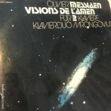 Discos de vinilo: OLIVIER MESSIAEN - KLAVIERDUO MRONGOVIUS – VISIONS DE L'AMEN FÜR 2 KLAVIERE. Lote 194577045