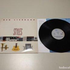 Discos de vinilo: 0220-BEN LIEBRAND STYLES ESPAÑA 1990 LP VIN POR VG +/++ DIS VG+/++. Lote 194578187