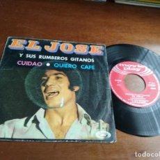 Dischi in vinile: EL JOSE Y SUS RUMBEROS GITANOS / CUIDAO / QUIERO CAFE (SINGLE 1970). Lote 194580338